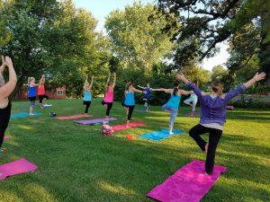 Arbor Day Yoga Behind the Pines @ Whispering Pines B&B | Nebraska City | Nebraska | United States