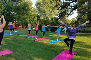 Yoga Tree Pose at Whispering Pines B&B