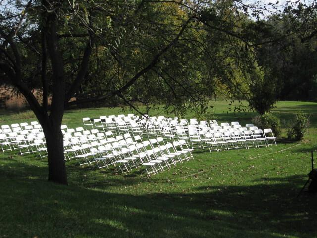 Wedding Setup 140 Guests Facing South