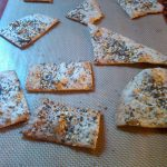 baked homemade flatbread crackers