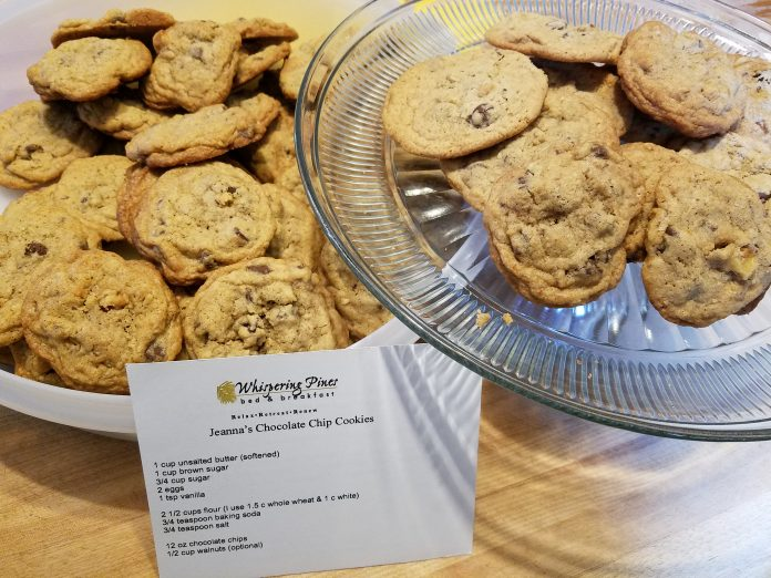 chocolate Chip Cookies at Whispering Pines Bed and Breakfast