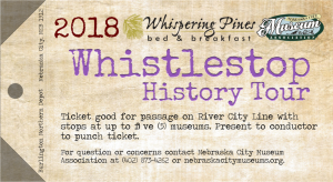 Whispering Pines Train Ticket