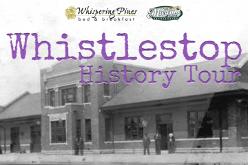 Whistlestop History Tour with Train Station and WPBNB and Museum Association Logos