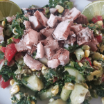 Kale Corn Salad with Chicken