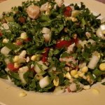 Kale Corn Salad with Shrimp