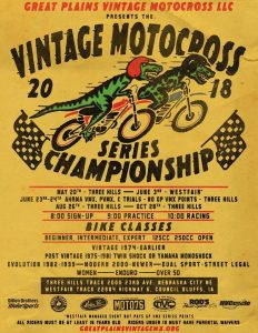 event poster motocross races June 23 to 24, 2018