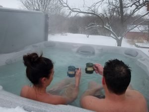Winter Morning Hot Tub