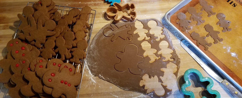 Gingerbread people making