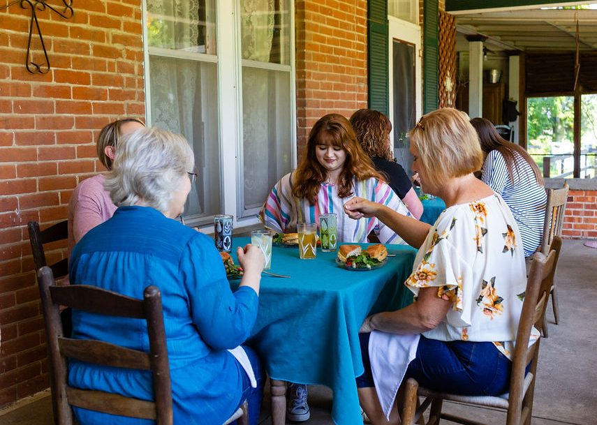 Ladies Luncheon on the porch