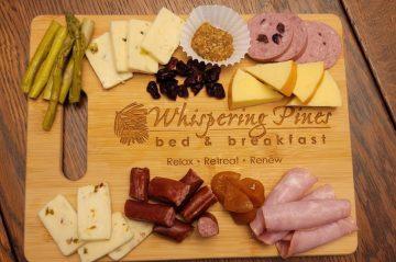 Charcuterie Board on Whispering Pines B&B Cutting Board
